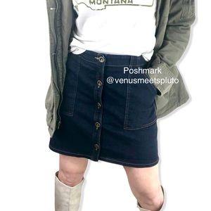 Banana Republic Denim Button Front Skirt Sz 6